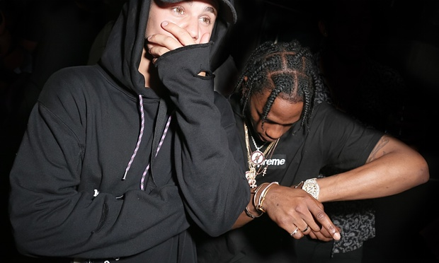 Travis Scott and Justin Bieber
