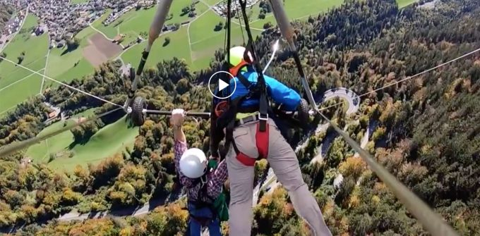 Hang glider cheats death … almost FALLING  from 4,000 ft up!