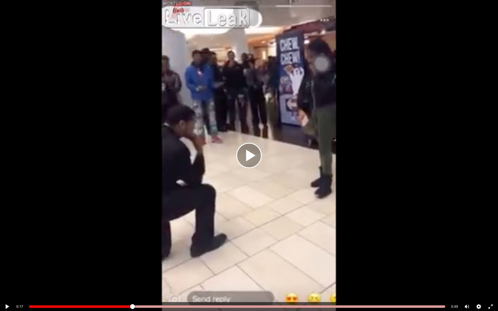 Mall Marriage proposal ends