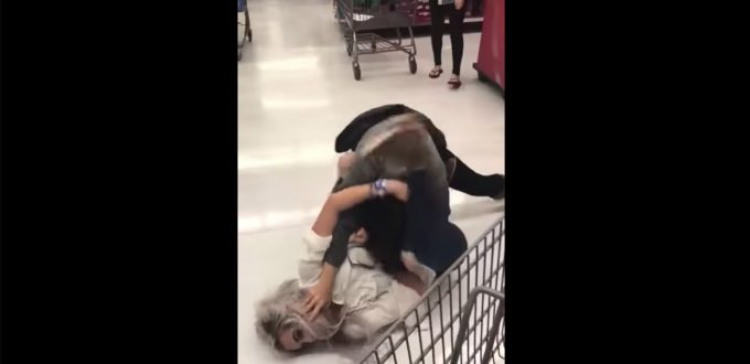 WALMART BLACK FRIDAY RUMBLES: Two white women square up!
