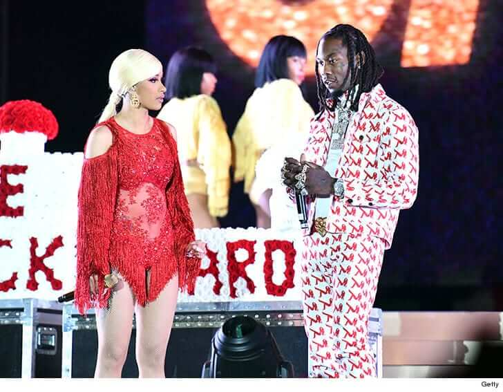 Offset Begged Cardi On Stage