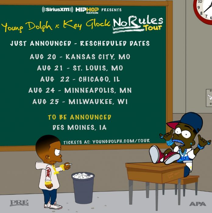 Young Dolph and Key Glock Reschedule Tour Dates