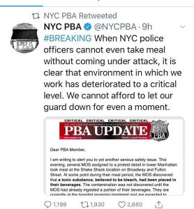 'Poisoned' Shake Shack Milkshakes NYPD Cops