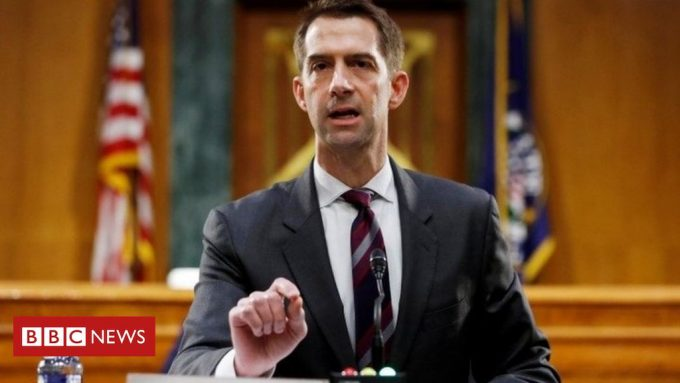 US Senator Tom Cotton Defends Slavery Remarks