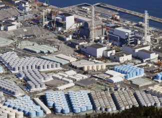 To show Japan's nuclear water tanks